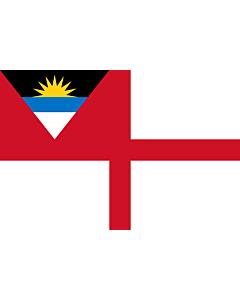 Fahne: Flagge: Coastguard Ensign of Antigua and Barbuda