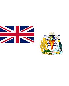Fahne: Flagge: British Antarctic Territory | Territoire antarctique britannique | Territorio antartico britannico | Bryttisca Antarctisca Landscipes | Tiriogaeth Brydeinig yr Antarctig | The Breetish Antarctic Territory