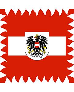 Fahne: Flagge: Ehemaliger Stander des österreichischen Bundespräsidenten  bis 1984