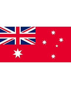 Fahne: Flagge: Civil Ensign of Australia   The Australian Red Ensign