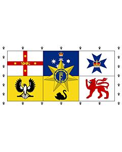 Fahne: Flagge: Royal Standard of Australia   Queen Elizabeth II s personal flag for Australia