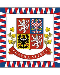 Fahne: Flagge: Presidential Standard of the Czech Republic | President of the Czech Republic | Presidente della Repubblica Ceca | Prezidenta České republiky