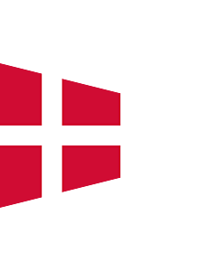 Fahne: Flagge: Naval Rank Flag of Denmark - Chief of Squadron | Danish naval rank flag for the Chief of Squadron | Eskadrechefsstander