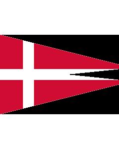 Fahne: Flagge: Naval Rank Denmark Senior Officer Afloat