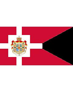 Fahne: Flagge: Royal Standard of Denmark | Det danske kongeflag