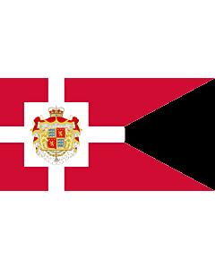 Fahne: Flagge: Standard of Prince Henrik | H.K.H. Prins Henriks  Prinsgemalens