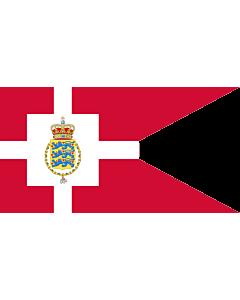 Fahne: Flagge: Standard of the Crown Prince of Denmark | Det danske tronfølgerflag  bruges af H
