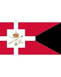Fahne: Flagge: Standard of the Regent of Denmark | Rigsforstanderflaget