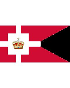 Fahne: Flagge: Standard of the Royal House of Denmark | Kongehusflaget  bruges af alle medlemmer af den kongelige familie