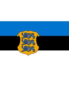 Fahne: Flagge: Estonia - Minister of Defence | Estonian Minister of Defence | Kaitseministri lipp