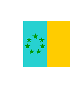 Fahne: Flagge: Siete Estrellas Verdes | Esta es la bandera nacionalista canaria