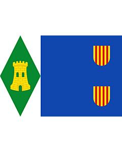 Fahne: Flagge: Torrijo del Campo | Torrijo del Campo De paño azul
