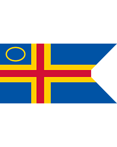 Fahne: Flagge: Åland Yachting Clubs   This image shows a flag