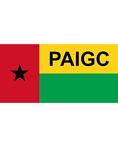 Fahne: Flagge: PAIGC  variant | African Party for the Independence of Guinea and Cape Verde | Parti africain pour l indépendance de la Guinée et du Cap-Vert | Partido Africano para a Independência da Guiné e Cabo Verde | Флаг Африканской партии независимо
