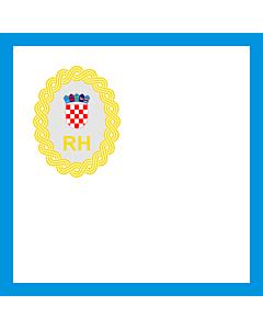 Fahne: Flagge: Präsidenten der Regierung der Republik Kroatien