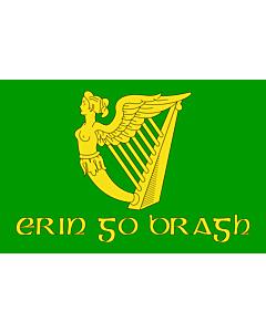 Fahne: Flagge: Erin Go Bragh   Irish nationalist flag   version of Image Erin Go Bragh flag