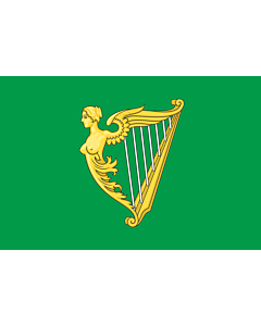 Fahne: Flagge: Green harp flag of Ireland   A traditional green harp flag of Ireland with a slightly different harp from File Arms of Ireland  Historical