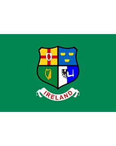 Fahne: Flagge: Ireland hockey team   Field hockey team of Ireland  Four Provinces coat of arms -- Ulster