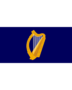 Fahne: Flagge: President of Ireland   Presidential Flag of Ireland with alternate official state harp design