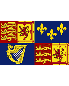 Fahne: Flagge: Royal Standard of Great Britain  1707-1714   Royal Standard of Great Britain between 1707 to 1714