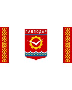 Fahne: Flagge: Pavlodar   Pavlodar, Kazakhstan