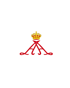 Fahne: Flagge: Personal standard of Prince Alberto II of Monaco