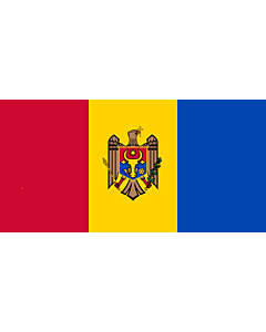 Fahne: Flagge: Moldova, reverse | Republicii Moldova, revers