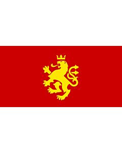 Fahne: Flagge: Macedonia - ethnic | Еthnic Macedonian lion | Етничко македонско знаме со лав