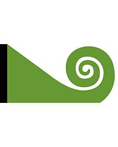 Fahne: Flagge: Koru   This image shows the popular Koru Flag