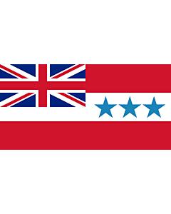 Fahne: Flagge: Rarotonga 1888-1893   Rarotonga  now Cook Islands  from 1858 to 1893   Het Koninkrijk Rarotonga tussen 1858 en 1893