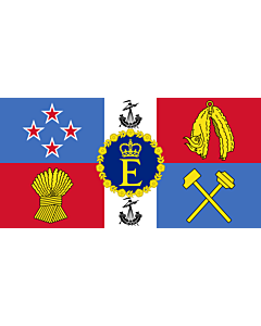 Fahne: Flagge: Royal Standard of New Zealand   Queen Elizabeth II s personal flag for New Zealand