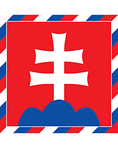 Fahne: Flagge: President of Slovakia   Штандар прэзыдэнта Славацкай рэспублікі   Prezidenta Slovenské republiky   Štandarda prezidenta Slovenskej republiky Štandarda prezidenta Slovenskej republiky má podobu červeného štvorca