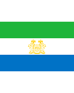 Fahne: Flagge: Standard of Ambassadors of Sierra Leone   Standard of ambassadors of Sierra Leone
