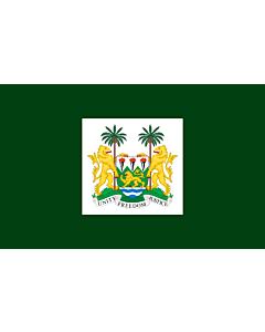 Fahne: Flagge: President of Sierra Leone   Standard of the President of Sierra Leone