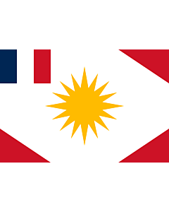 Fahne: Flagge: Latakiya-sanjak-Alawite-state-French-colonial   One form of the flag of the Sanjak of Latakiya or Alawite state in northwest Syria under French colonial rule   Territoire autonome des Alaouites