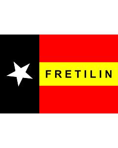 Fahne: Flagge: FRETILIN  East Timor | FRETILIN | FRETILIN nian