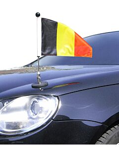 magnetisch haftender Autofahnen-Ständer Diplomat-1.30 Belgien