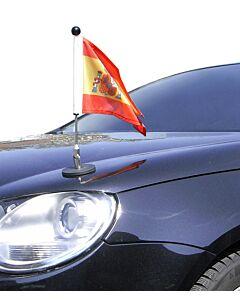 magnetisch haftender Autofahnen-Ständer Diplomat-1.30 Spanien mit Dienst-Wappen