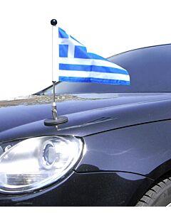 magnetisch haftender Autofahnen-Ständer Diplomat-1.30 Griechenland