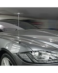 Autoflaggen-Ständer Diplomat-Z-Chrome-PRO-Jaguar-XF-X260  für Jaguar-XF-X260 (2015-)